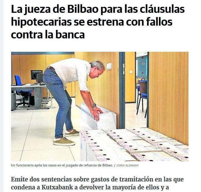 Claúsulas hipotecarias. Primeras sentencias en Bilbao.